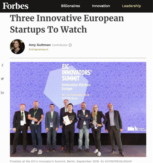 Genomic Expression featured in Forbes – WON the EIC award