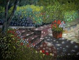A la sombra en el jardín