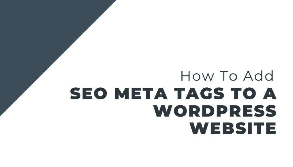 how to add seo meta tags to a wordpress website
