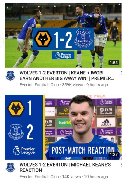 Wolves 1 Everton 2
