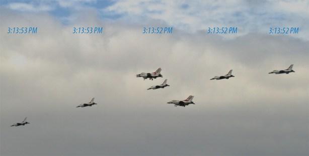 USAF Thunderbirds without the Sub Sec Data