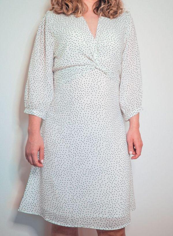 Vestido blanco estampado lunares 5 Josephine Looks