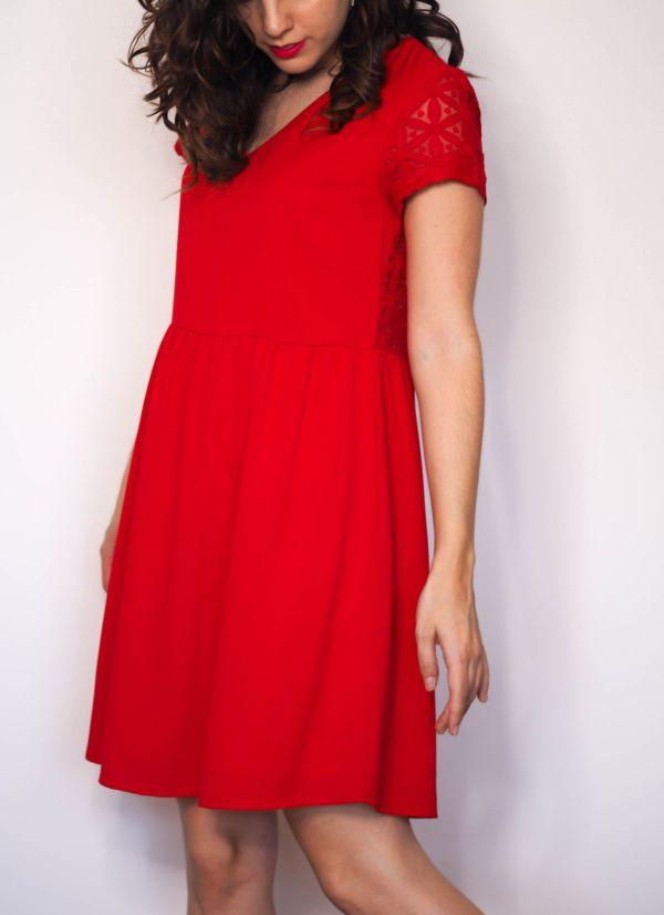 Vestido rojo espalda blonda 4 Josephine Looks