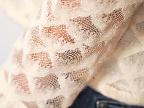 camisa color hueso con brocado Josephine Looks 5