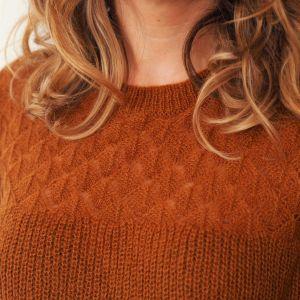 Jersey de punto calado color caldera 3