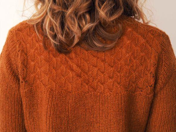 Jersey de punto calado color caldera 4