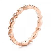 Anniversary Rings: Rose Gold Anniversary Rings
