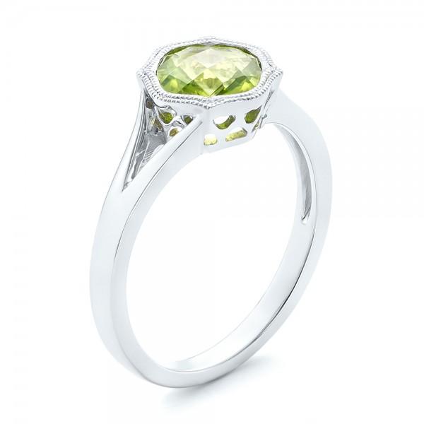 Custom Iolite and Diamond Halo Fashion Ring #102803