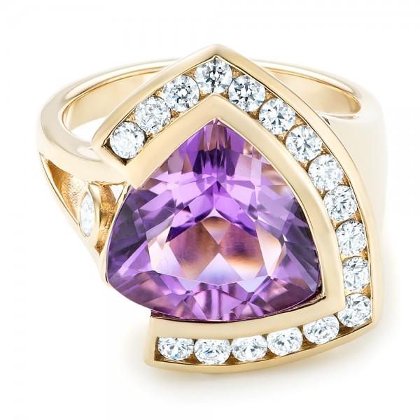 Custom Amethyst And Diamond Fashion Ring 102958 Seattle