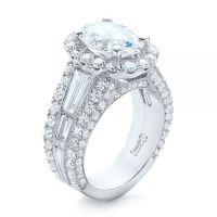 Custom Blue Sapphire and Diamond Engagement Ring #102163 ...
