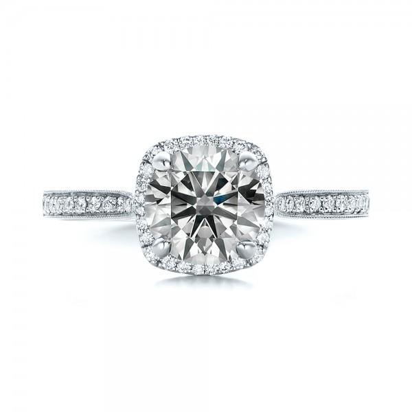 Custom Fancy Grey Diamond Engagement Ring 102097