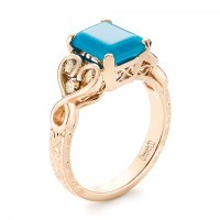 Custom Rose Gold Turquoise and Champagne Diamond ...