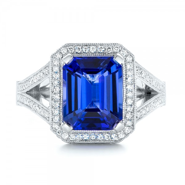 Custom Tanzanite and Diamond Engagement Ring 102968