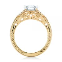 Custom Vintage Diamond Yellow Gold Engagement Ring #102797