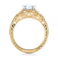Custom Vintage Diamond Yellow Gold Engagement Ring #102797 ...