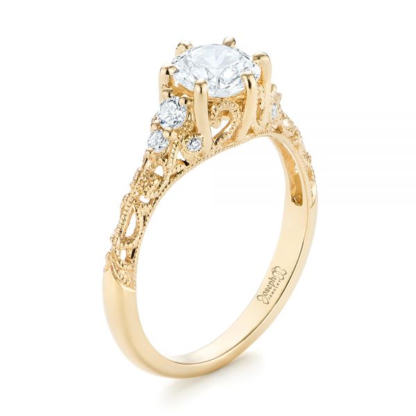 Modern Solitaire Diamond Engagement Ring #103264