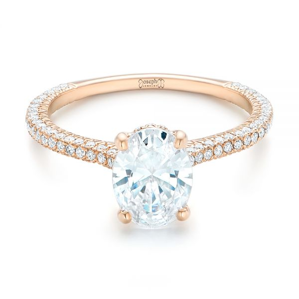 Rose Gold Oval Diamond Engagement Ring #102561