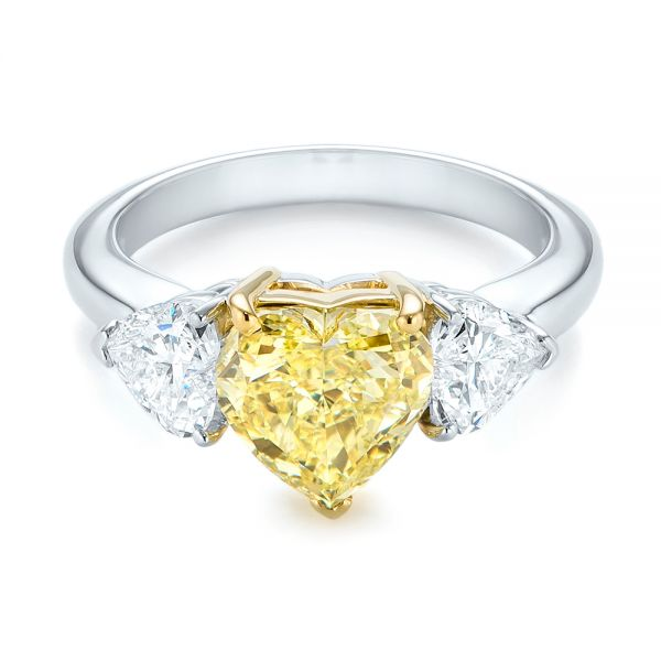 Three Stone Heart Diamond Engagement Ring 104139 Seattle Bellevue Joseph Jewelry