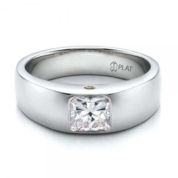 Custom Diamond And Peridot Mens Wedding Band 100267