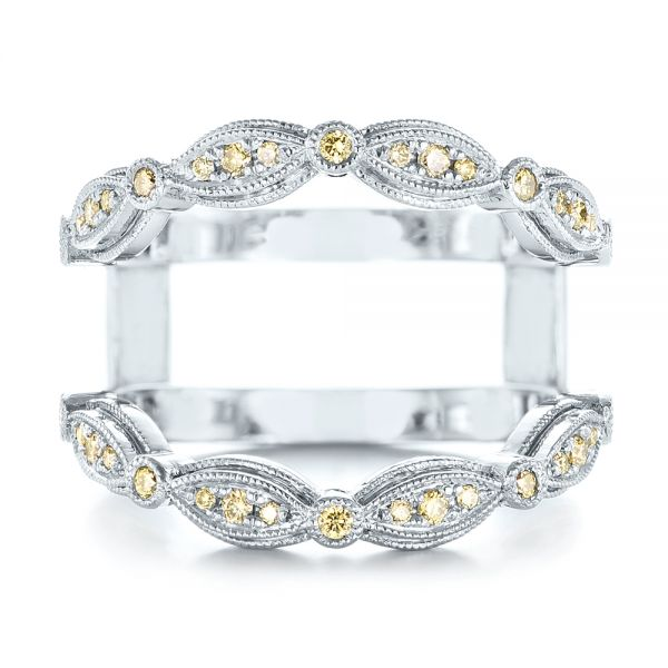 Custom Yellow Diamond Jacket Wedding Band 103392