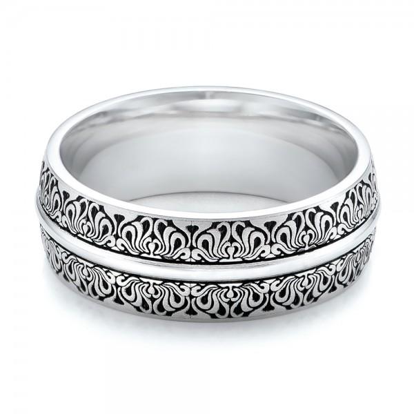 Women39s Engraved Wedding Band 101059 Seattle Bellevue