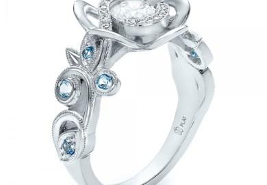 Blue Diamond Engagement Rings Kay