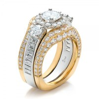Estate Two-Tone Wedding and Engagement Ring Set #100619 ...