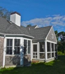Cape Cod Porch Addition On House