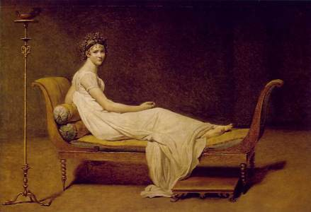 "Jacques-Louis David, ""Madame Recamier."""