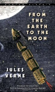 """From the Earth to the Moon"" novel by Jules Verne, 1865."