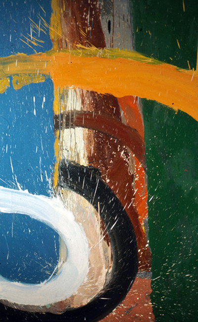 Untitled, oil on canvas, 6 x 4 feet, 1972.