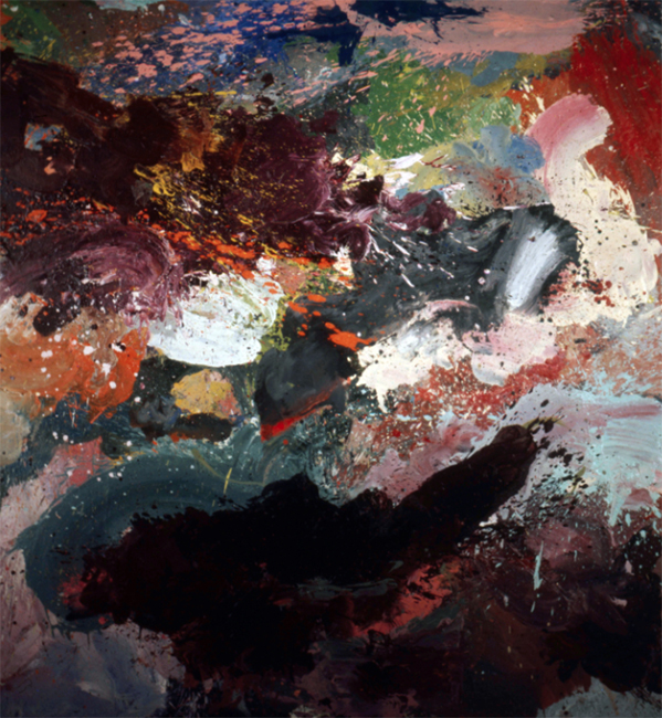 Munin, oil on canvas, 8 x 8.5 feet, 1973. Private Collection.