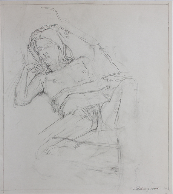 May, pencil on paper, 13.75 x 12.125 inches, 1974.
