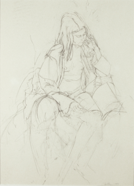 May, pencil on paper, 12 x 9 inches, 1975. Private Collection.
