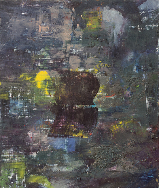 Untitled 4, oil and wax on masonite board, 14 x 11 7/8 inches, 1976.