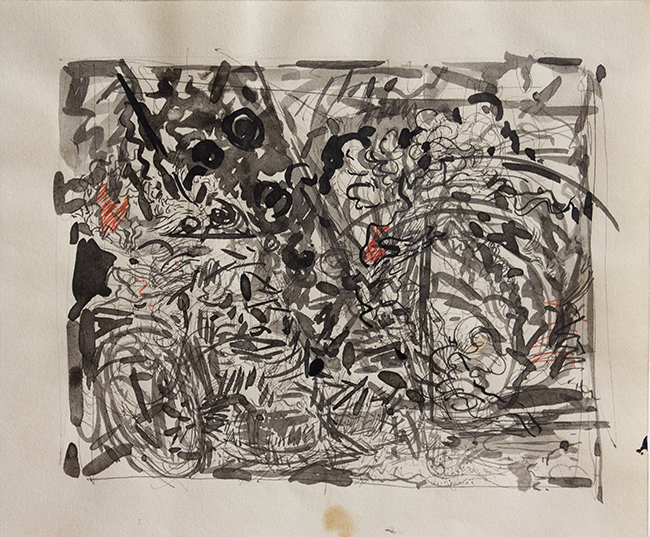 Untitled 2, ballpoint pen, indian ink and marker on paper, 8.75 x 10 inches, 1978.