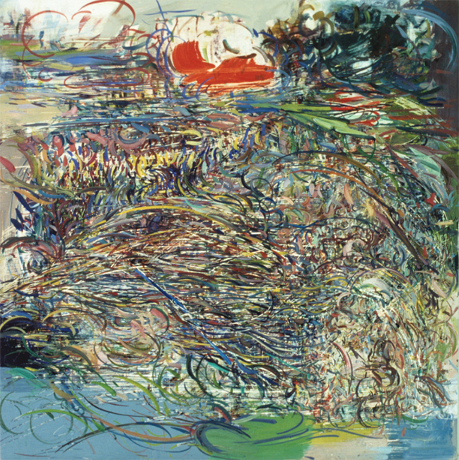 Untilled, oil on canvas, 22 x 22 inches, 1979.