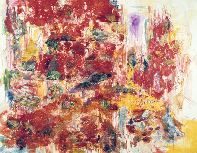 Ca'del Mago (House of the Magician), oil on canvas, 72 x 92.25 inches, 1984. Private Collection.