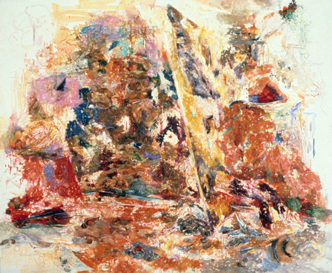 Against The Stream, oil on linen, 54 x 66.25, 1985. Collection of the Hunter Museum of American Art, Chattanooga, TN