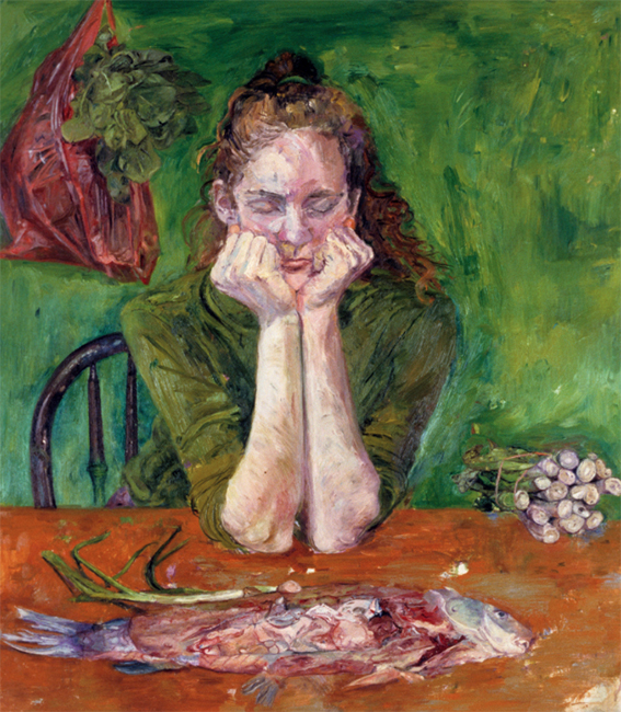 Irene, oil on canvas, 32 x 28 inches, 1988. Collection of the Yale Museum, New Haven, CT.