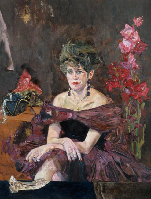 Kathie Bell, oil on canvas, 44 x 34 inches, 1989. Private collection.