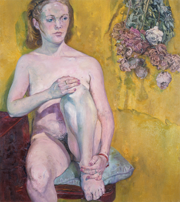 Agnese, oil on linen, 38 x 34 inches, 1990.