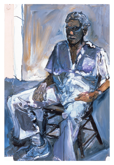 Study of Ben for Titorelli's Studio Two, oil on gessoed paper, 54 x 36 inches, 1991.