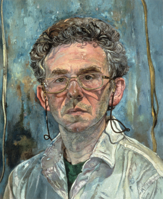 Self Portrait, oil on linen, 22 x 18 inches, 1992. Collection of the artist.