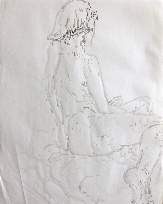 Stephanie (5), ink and water on paper, 17.25 x 14 inches, 1993.