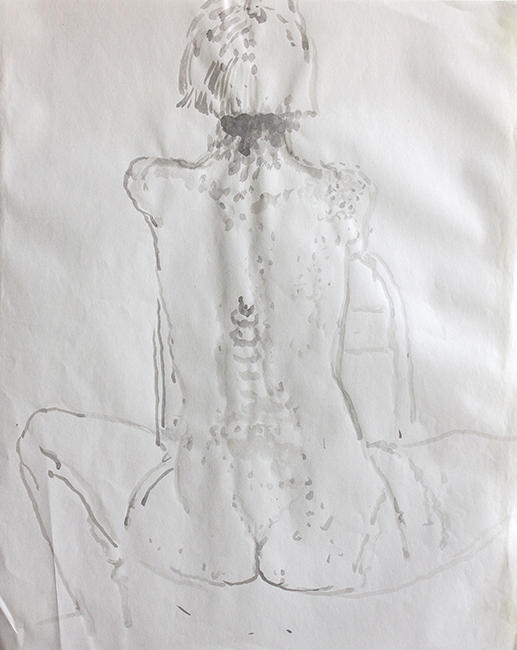 Stephanie (4), ink and water on paper, 17.25 x 14 inches, 1993.