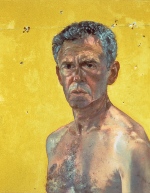 Self Portrait, oil on linen, 22 x 18 inches, 1994. Private collection.