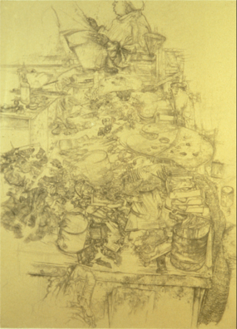 Claudette Reading, pencil on paper, 30 x 24 inches, 1995-96. Private Collection.