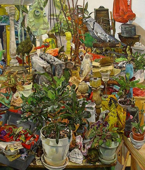 Garden, oil on linen, 42 x 36 inches, 2008-09