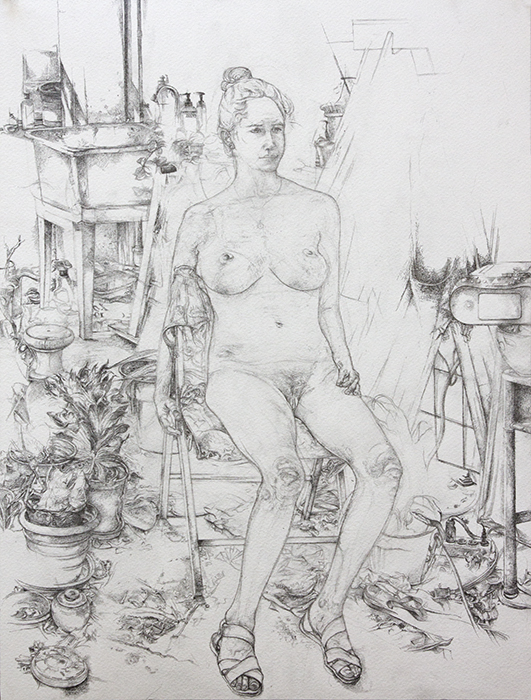 Louise, pencil on watercolor paper, 18.625 x 14 inches, 2013